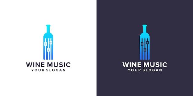 음악 로고가 있는 와인