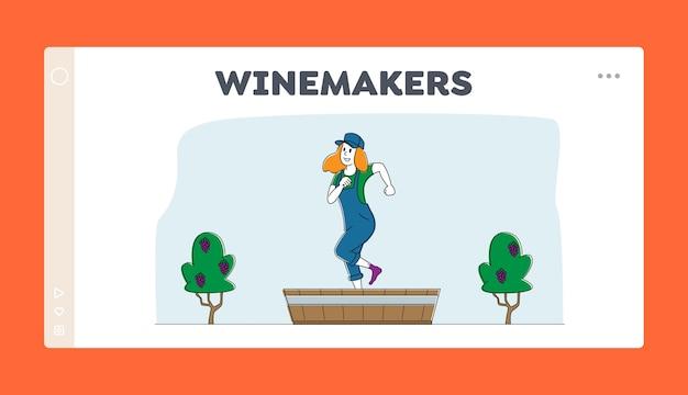 Шаблон посадочной страницы процесса виноделия