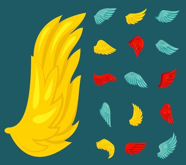 날개 아이콘 플랫