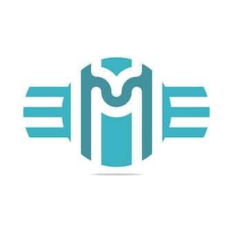 Шаблоны логотипов wing letter m