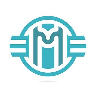 Шаблоны логотипов wing letter m, дизайн запаса