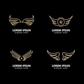 翼のロゴのテンプレートベクトルアイコンのデザイン
