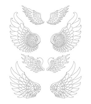 Wing set design line only