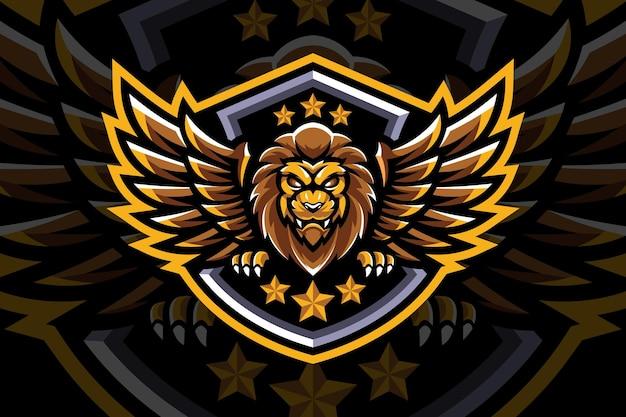 翼のあるライオンのマスコット