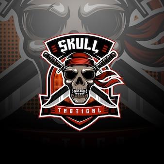 Крылатый череп тактический логотип киберспорта