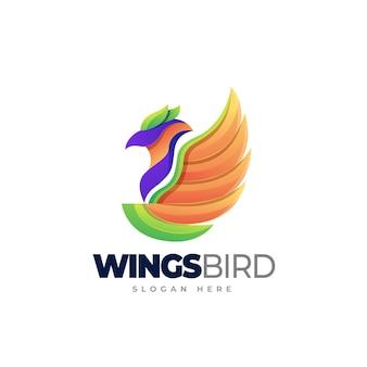 Wingsbird logo template design