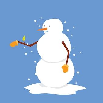 Подмигивающий милый снеговик синий фон хорошо для рождества иконы рождество