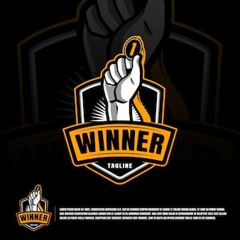 Winner award logo template