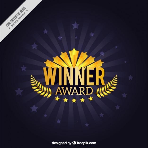 Победитель премии с лавровом венке фоне