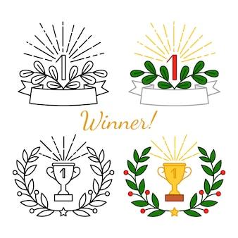 Набор наград победителя