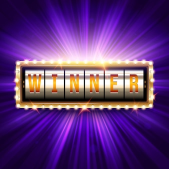 Winner congratulation background.