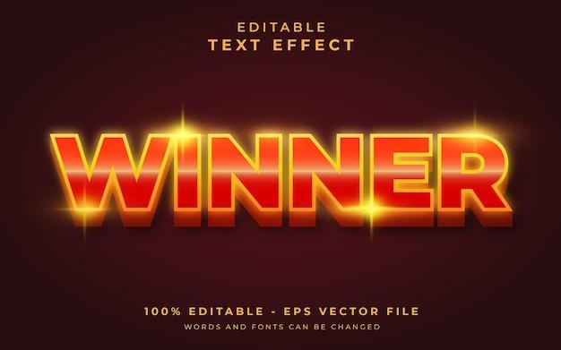Winner editable text effect