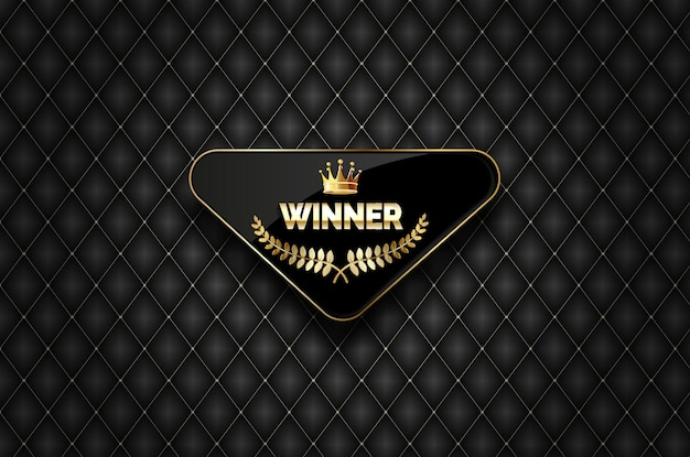 Winner  gold  label