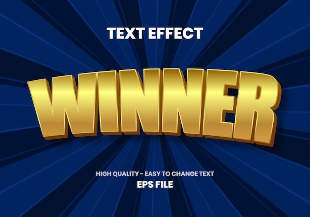 Winner gold text teffect