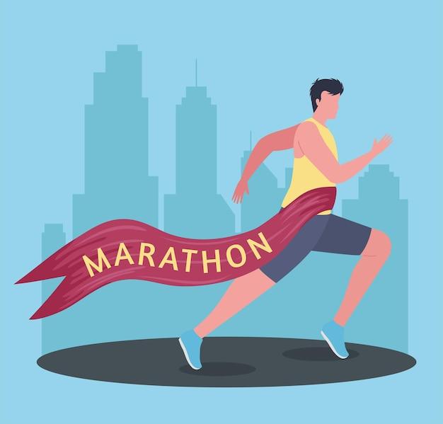 Winner sportsman of marathon