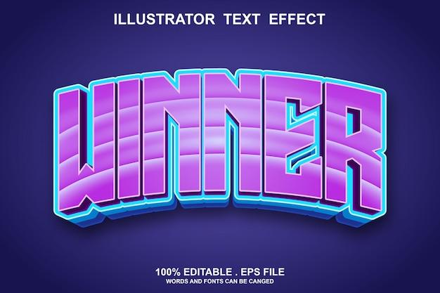 Winner text effect editable