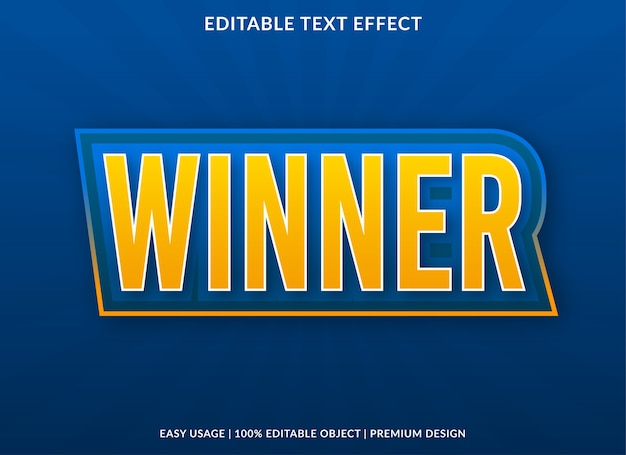 Winner text style template