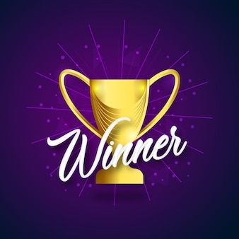 Winner winning cup vector design