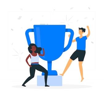 Иллюстрация концепции победителей