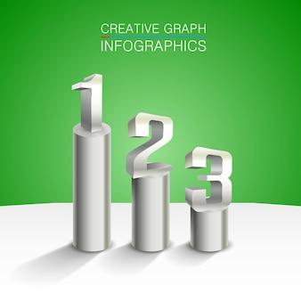 3d диаграмма искусства информации подиума победителей. векторная иллюстрация