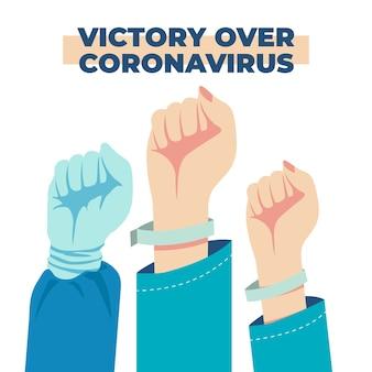コロナウイルスに対して一緒に勝つ