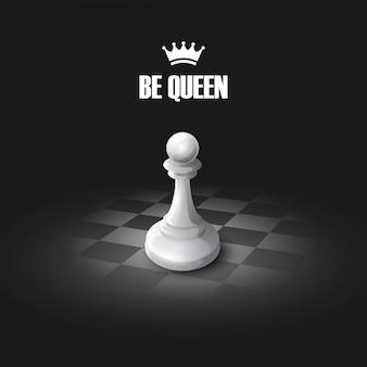 Winning chess concept.  background
