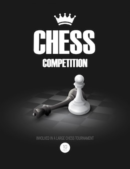 Winning chess concept.  background