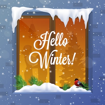 Зима и снег иллюстрация