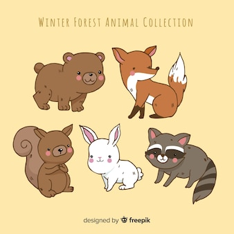 Winter animal collection