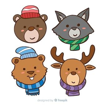 Коллекция зимних животных