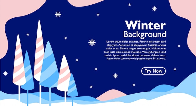 Winter background for event and greeting card