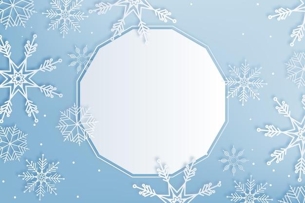 紙のスタイルのコピースペースの冬の背景