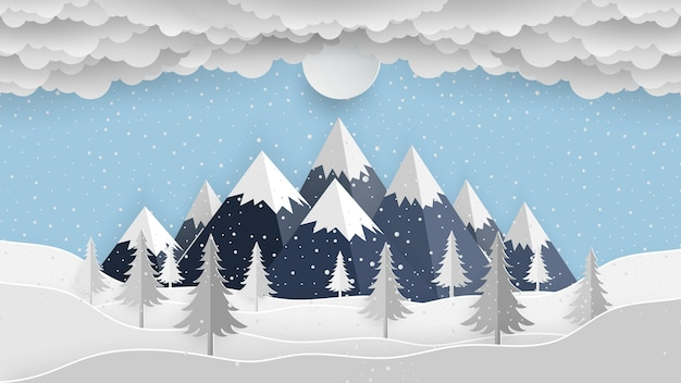 Winter background, landscape background