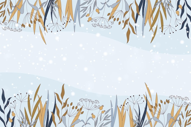 Winter background with empty space