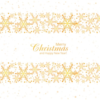 눈송이 메리 크리스마스 카드와 겨울 배경
