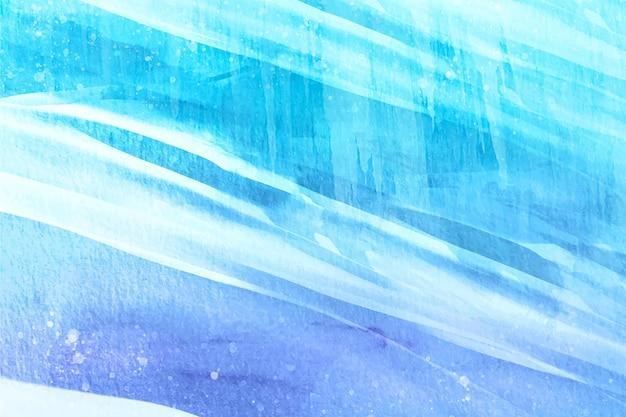 水彩絵の具で冬の背景