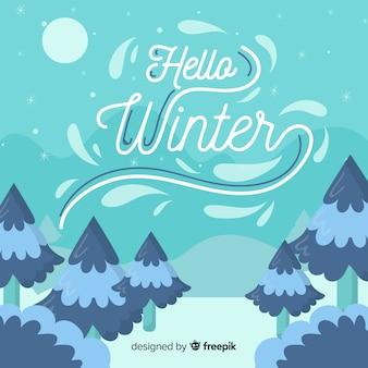 겨울 배경입니다.