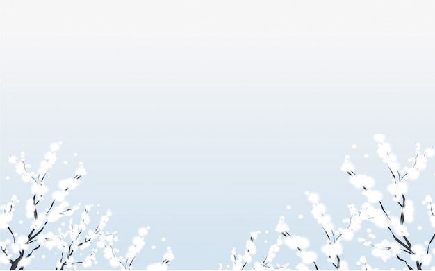 Зимний фон