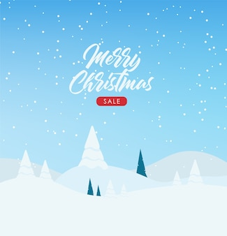 冬のバナー、メリークリスマス、休日のバナー、冬の風景