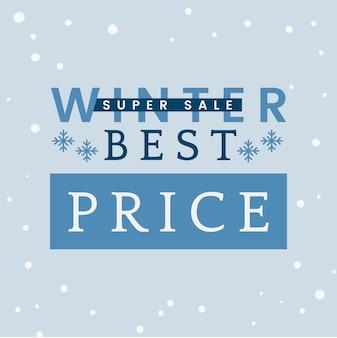 Winter best price super sale vector