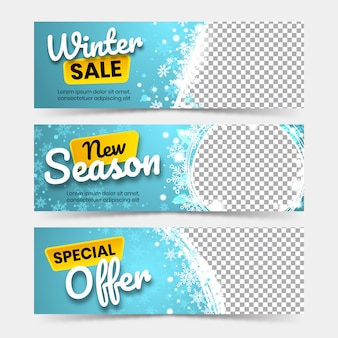 Winter big sale banners