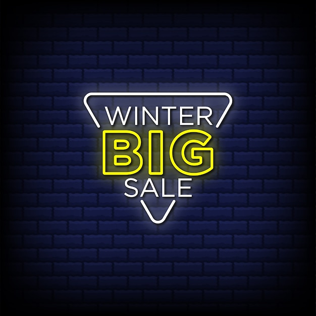 Winter big sale neon signs style text