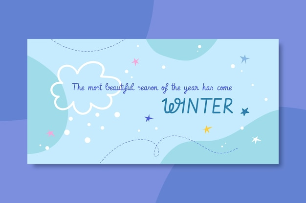 Winter blog header template