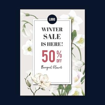 코로나 리우스, 칼라 백합, galanthus 겨울 꽃 포스터
