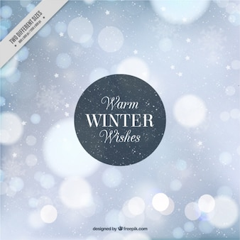 Winter bokeh abstract background