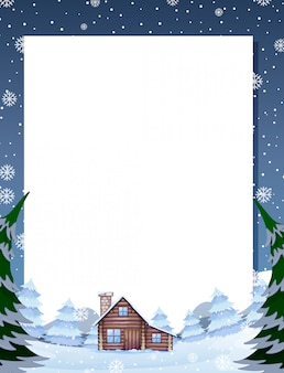 Winter cabin note template