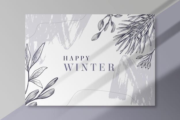 Зимний шаблон карты