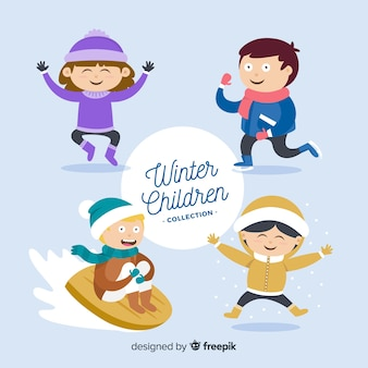 Winter children collection