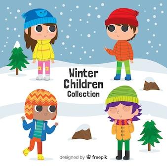 Winter children collection