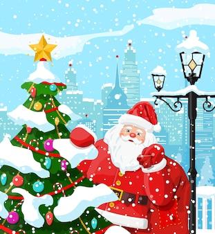Зимний рождественский фон иллюстрация